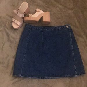 ASOS Denim Wrap Skirt